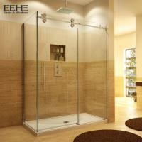 Buy cheap Gold Frameless Corner Shower Enclosure , Luxury Etched Glass Shower Doors from wholesalers