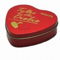 Buy cheap Gift Tin with Printing and Logo, Comes in Nice Design from wholesalers