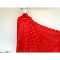 Buy cheap Red Big Swiss Cotton Lace Knitted ,100% Cotton Knitted Lace from wholesalers