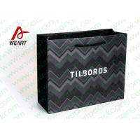 Buy cheap Shirt Shop Black Custom Branded Paper Bags With Logo Matte Lamination Suface from wholesalers