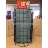 Buy cheap Metal Hair Color Tinned Dye Accessories Display Stand Double Sided Custom Signage from wholesalers