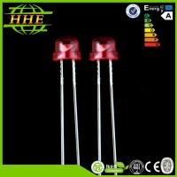 Single Color Straw Hat High Brightness 5mm LED Diode Red 620nm - 625nm Manufactures