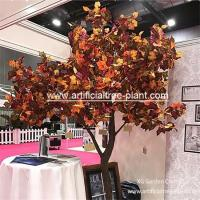 Wholesale Maple Color Artificial Evergreen Trees / Fake Sycamore Tree Weeding Tabletop Decor from china suppliers