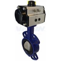 Buy cheap Pneumatic Cylinder Operated Butterfly Valve, Metal Seated Butterfly Valve  Air Flow Control from wholesalers