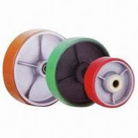 Wholesale Polyurethane Wheels with Cast Iron Center, Customized Colors are Accepted from china suppliers