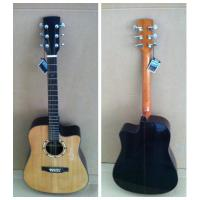 Wholesale 41inch OEM  High-end whole solidwood vintage cutaway electric acoustic guitar/western guitar steel string sale-TP-AG85 from china suppliers