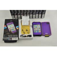 Buy cheap IP 68 Purple Waterproof Cell Phone Case For Lifeproof Iphone 4 / 4s from wholesalers