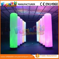 Wholesale Christmas Party / Wedding Inflatable LED Lighting Pillar 1 Year Warranty from china suppliers