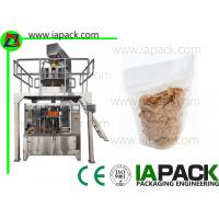 Buy cheap Corn Flake Stand Pouch Packing Machine Stand-up Zipper Bag Packing machine Filling Range 5-1500g from wholesalers