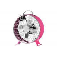 Buy cheap 22cm Chrome Retro Desk Fan 2 Speed Oscillating 3 Metal Blades Copper Motor from wholesalers