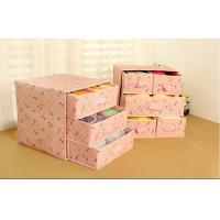 Buy cheap Multideck Print Storage Box Organizing Underwear Drawer Cloth Storage Case product