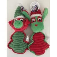 Wholesale Funny Interactive Stuffed Animal Christmas Tree Ornaments Squeakers Chewer from china suppliers