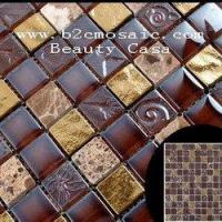 Wholesale Electric Plating Mosaic Tiles Coffee Color 15*15*8mm from china suppliers