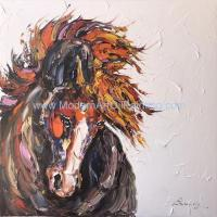 Wholesale Abstract Thick Texture Horse Painting On Canvas / Animal Canvas Wall Art from china suppliers