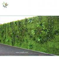Buy cheap UVG green leaf artificial grass wall with high imitation plants for outdoor decoration GRW01 from wholesalers