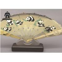 Buy cheap Right Hand Held Folding Fans   Include  Beijing Opera Facial  For Business Advertising Or Gift from wholesalers