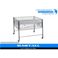 Buy cheap Promotion Wire Storage Baskets With Wheel , Metal Wire Container Storage Cages from wholesalers