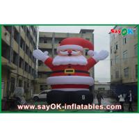 Buy cheap Inflatable Holiday Decorations 8m Height Red Big Christmas Santa Claus With Oxford Cloth from wholesalers
