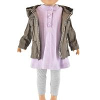 Buy cheap factory direct sale winter coat 3 piece outfits matching girl doll clothing for 18 inch doll from wholesalers