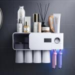 Buy cheap Suction Type 30RH UV Toothbrush Holder , DC3.7V Toothbrush Sanitizer Holder from wholesalers