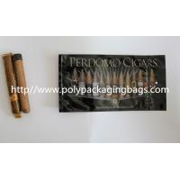 Wholesale Zipper Resealable Cigar Packaging Bag 7 Colors Printing With Humidification System from china suppliers