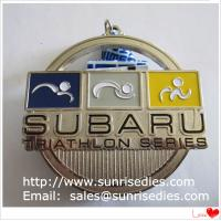 Buy cheap Hollow metal sport triathlon medal with enamel color filled, China medal supplier from wholesalers