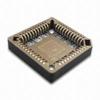 Buy cheap PLCC IC Socket with SMT Terminations and 1.27 x 1.91mm Pitch from wholesalers