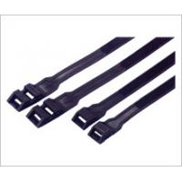 Buy cheap Nylon Double Locking Industrial Cable Ties Reusable Black Color Heat Resistant from wholesalers