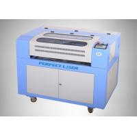 Buy cheap Mini CNC Cutting Co2 Laser Engraving Machine Blue White 600 * 400 from wholesalers