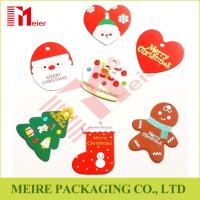 Buy cheap light recycle strong style color paper offset printing Christmas different design hangtag from wholesalers