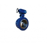 Buy cheap Graphite Flanged Wafer Butterfly Valve DN80 PN 40 Triple Eccentric Butterfly Valve from wholesalers