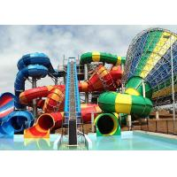 Wholesale Top Quality Outdoor Flat Fiberglass Water Slide Tornado Water Pump Slide from china suppliers