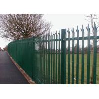 Buy cheap Powder Coated Galvanized Iron Spearhead Steel Palisade Fencing / Ornamental Decorative Garden fence from wholesalers