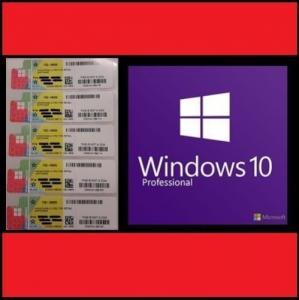 Retail Microsoft Windows 10 Pro Pack , Windows COA Sticker 64 / 32 Bit