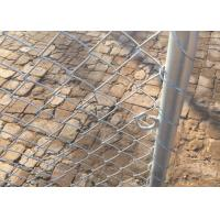 Buy cheap Swing Industrial Chain Link Fence Gate Water Resistant Long Service Life from wholesalers
