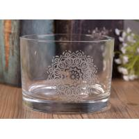 Buy cheap 12Oz Round Shape Decal Glass Candle Jar For Decor , In Stock Glass Votive Candle Holders from wholesalers