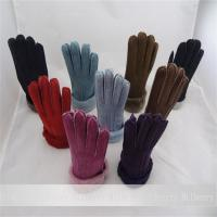 Buy cheap real sheepskin gloves handmade nice leather popular lady gloves from wholesalers