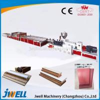 Buy cheap PVC wood hollow panel production line/WPC door panel extrusion line/wpc door making machine from wholesalers