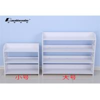 Buy cheap White Simple Wood Shoe Storage Cabinet Shoe Dust Type Convenient Install from wholesalers