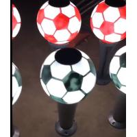 Buy cheap Football Style Solar Post Lights Solar Bollard Lawn Lights Outdoor LED Garden Lights Home Fence Lights from wholesalers