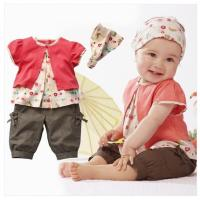 Wholesale 3 Pcs Baby Girls Fruits Pattern Top+Pants+Hat Set Outfits 0-3 Years Clothes from china suppliers