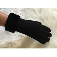 Buy cheap men's premium sheepskin Crafted wool lining gloves lambskin leather gloves from wholesalers