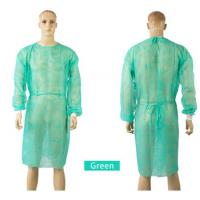 Buy cheap Silicone Free Unisex PP Isolation Gown , Antivirus Disposable Hospital Gowns from wholesalers