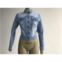 Buy cheap Popular Light Wash Denim Jacket / Button Through Trucker Jacket TW76366 from wholesalers
