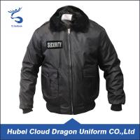 Buy cheap Fur Collar Black Warm Security Guard Coats , Police Duty Jackets Windproof from wholesalers