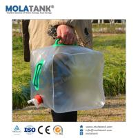 Buy cheap Collapsible Camp Hiking Clean Wash foldable Water plastic Water Storage Bucket Carrier from wholesalers