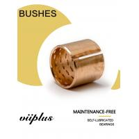 Buy cheap CUSN8P DIN 17662 Wrapped Bronze Bushing Large Lubricatin Depots Heavy Maintenance Standard Size Tolerance from wholesalers