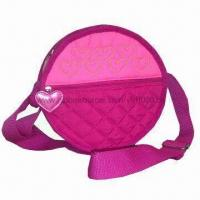 Buy cheap Kid's Day Bag with Quilted Pattern and Heart-shaped Zipper Puller from wholesalers