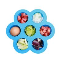 Buy cheap Beautiful Flower Shaped Silicone Egg Bites Mould With Plastic Cap Silicone Ice Tray Soft Rubber Kitchen Tool from wholesalers