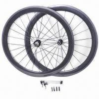 Buy cheap 50mm Tubular Deep Carbon Wheels, Efficient and Durable Features from wholesalers